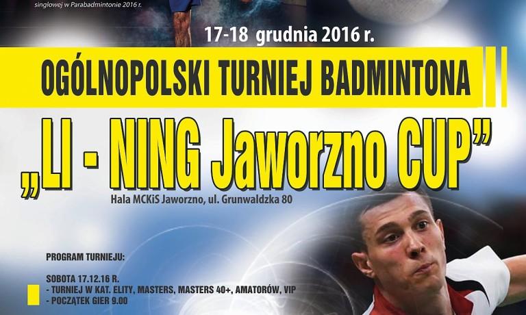 """Ogólnopolski Turniej """"LI-NING Jaworzno CUP"""""""