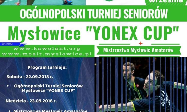 """Ogólnopolski Turniej Seniorów Mysłowice """"Yonex Cup"""""""